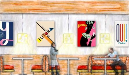 Graphic design cafeteria